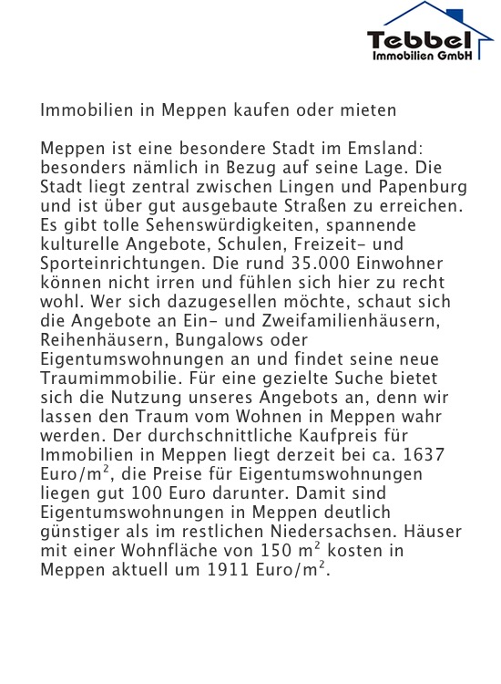 Immobilien Haselünne